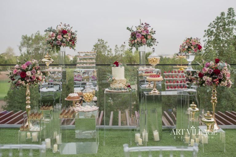 cake and candy buffet Dubai