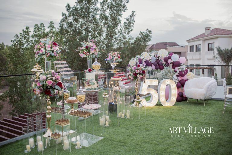 50th birthday outdoor venue decorations