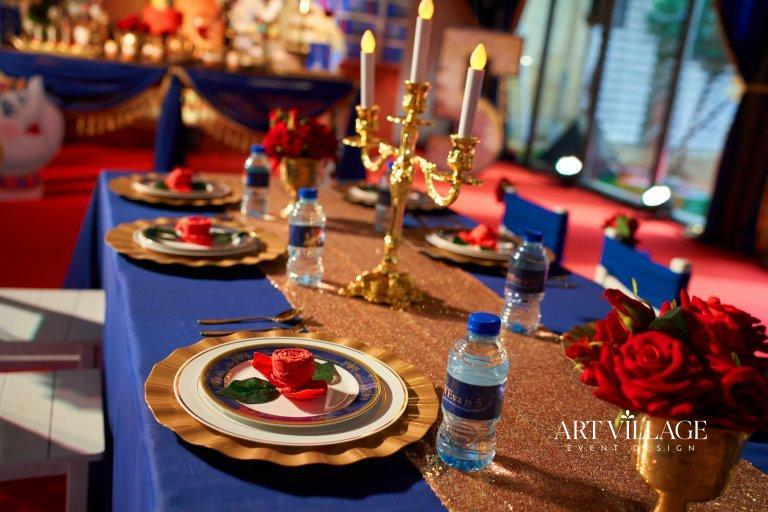 Elegant birthday party table decoration