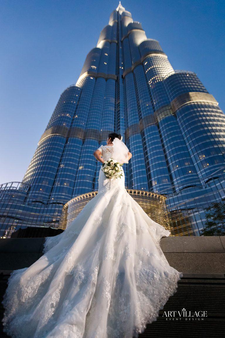photoshoot at Burj Khalifa