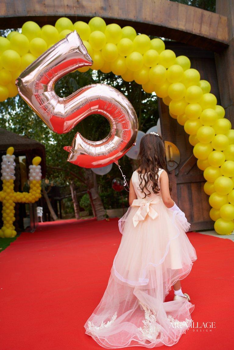 yellow balloon entrance arch
