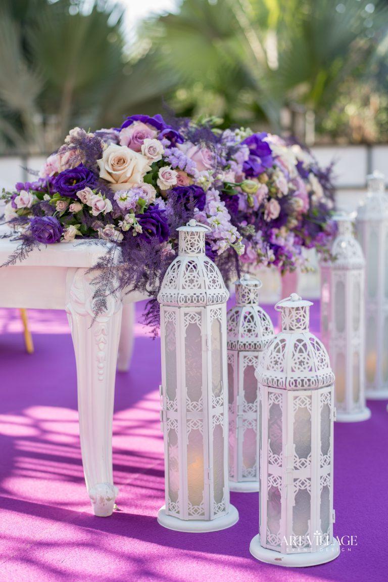 white lanterns for wedding UAE