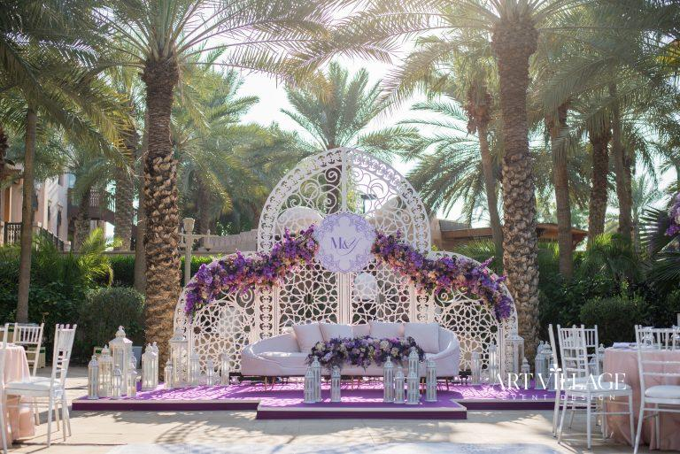 outdoor bridal stage in Dubai