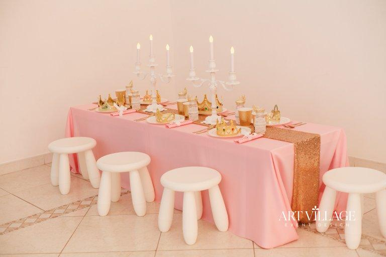 princess theme table decoration