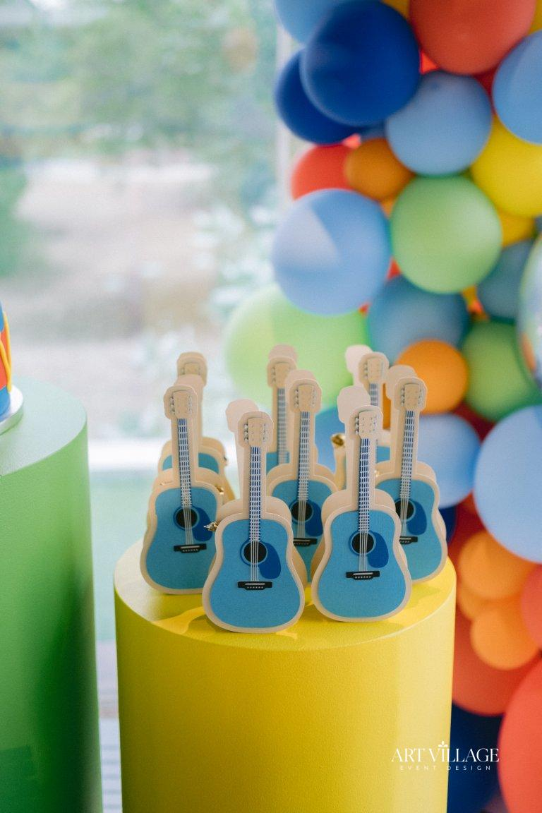 guitar favor boxes for birthday