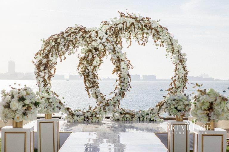 wedding ring style backdrop Dubai