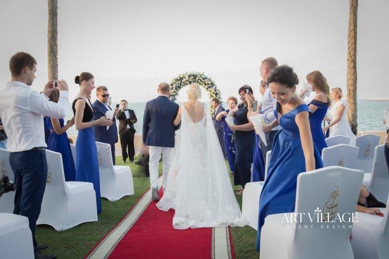 Outdoor blessing ceremony decor