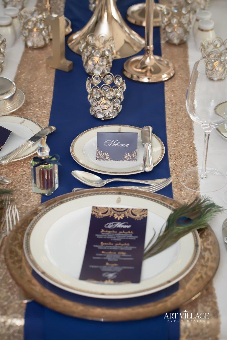 Gold table centerpiece