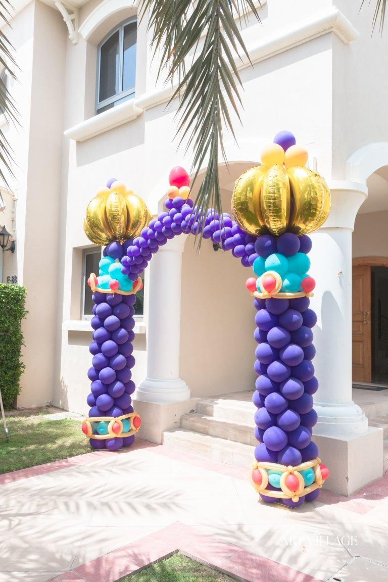 welcome balloons decoration for birthday