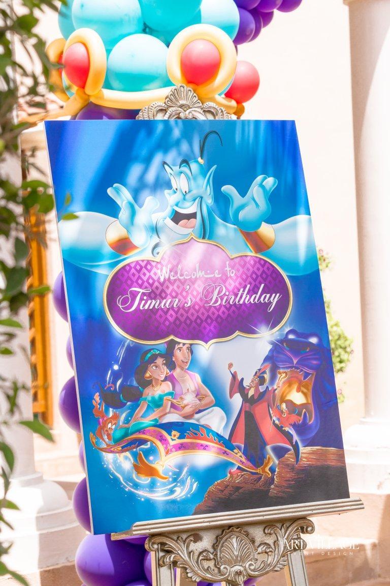 Aladdin theme welcome board