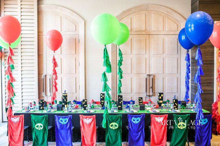 super heroes birthday theme