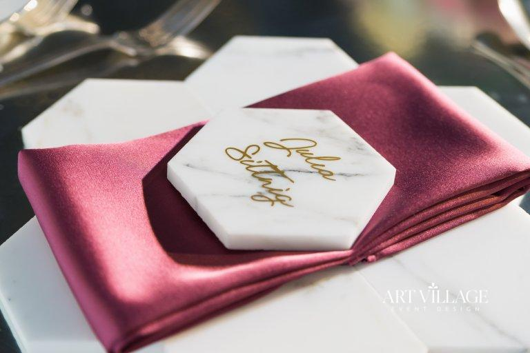 marble name cards design