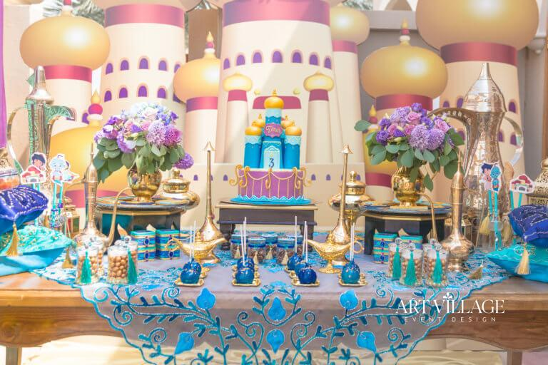 Aladdin cake table decor