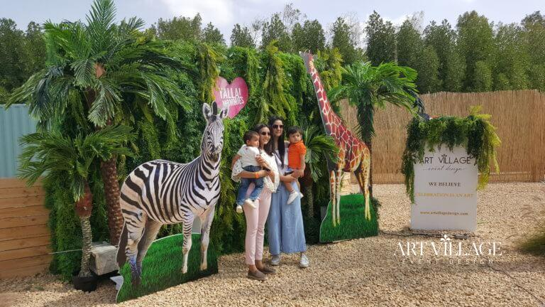 jungle themed backdrop decorations