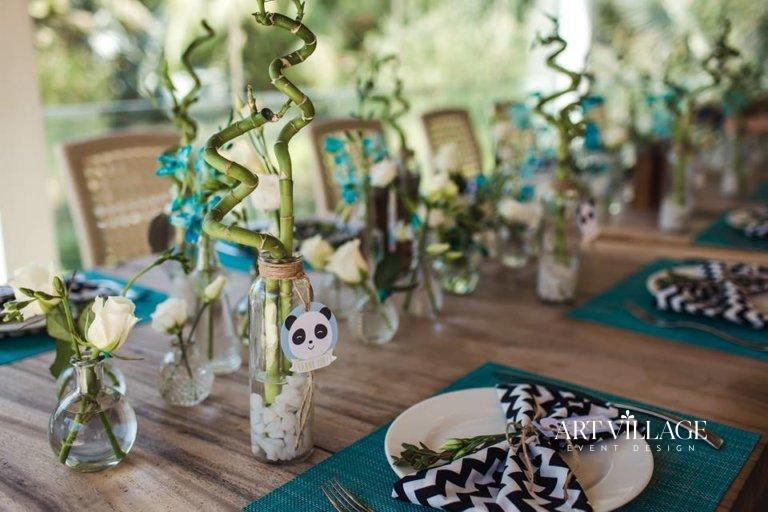 panda themed party in Dubai