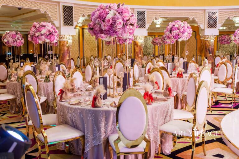reception at Al Falak ballroom