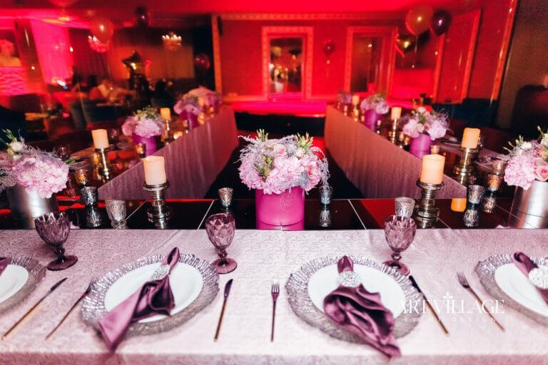 pink floral centerpieces Ajman