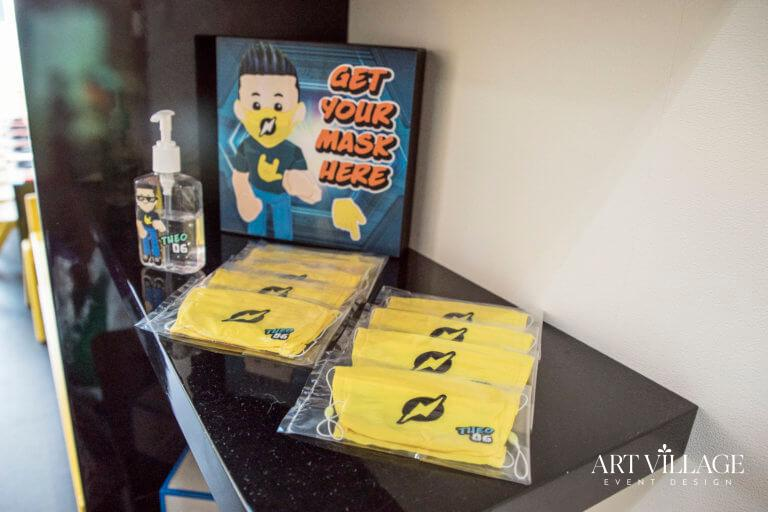 Personalized mask and sanitizer