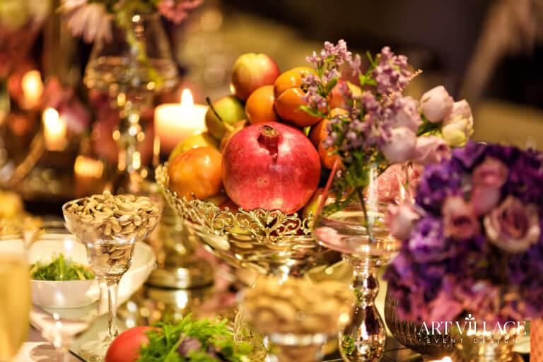Assorted fruits and flower ideas