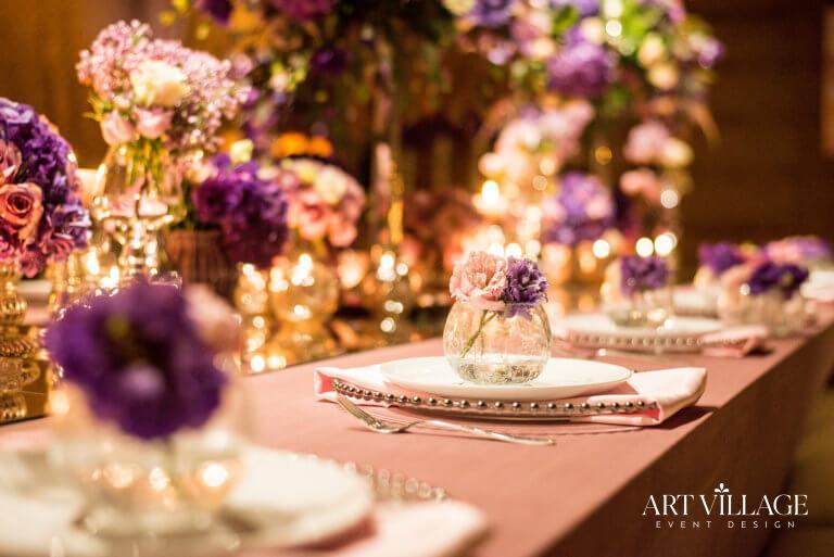 Gorgeous purple with white arrangement
