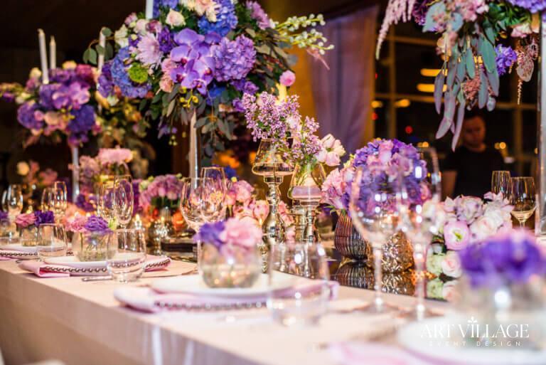 Elegant abstract flower arrangements