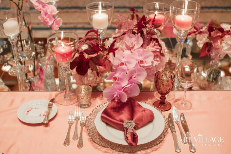 Beautiful dining arrangement in dubai