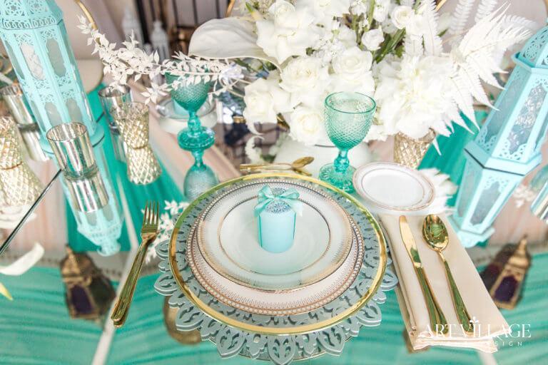 Tiffany with gold setup