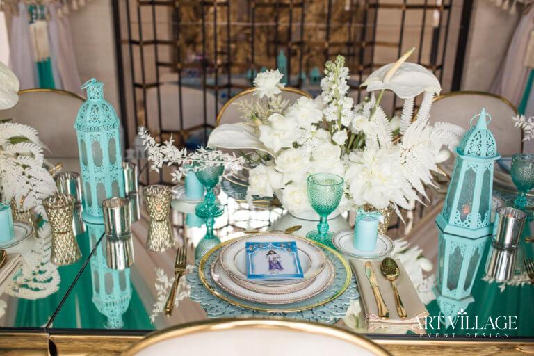 Elegant dinner arrangement dubai