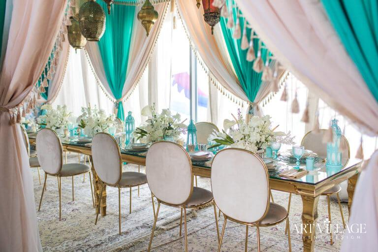 Rich and Luxurious table arrangement