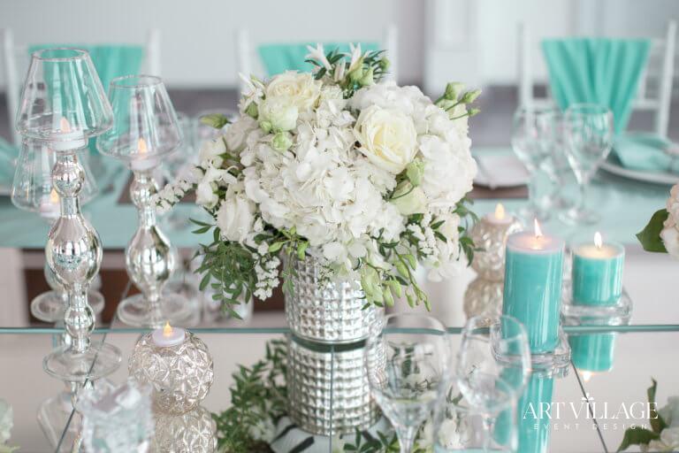 Elegant tiffany and white ideas