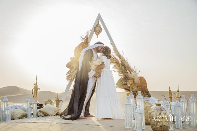 Desert wedding in Dubai