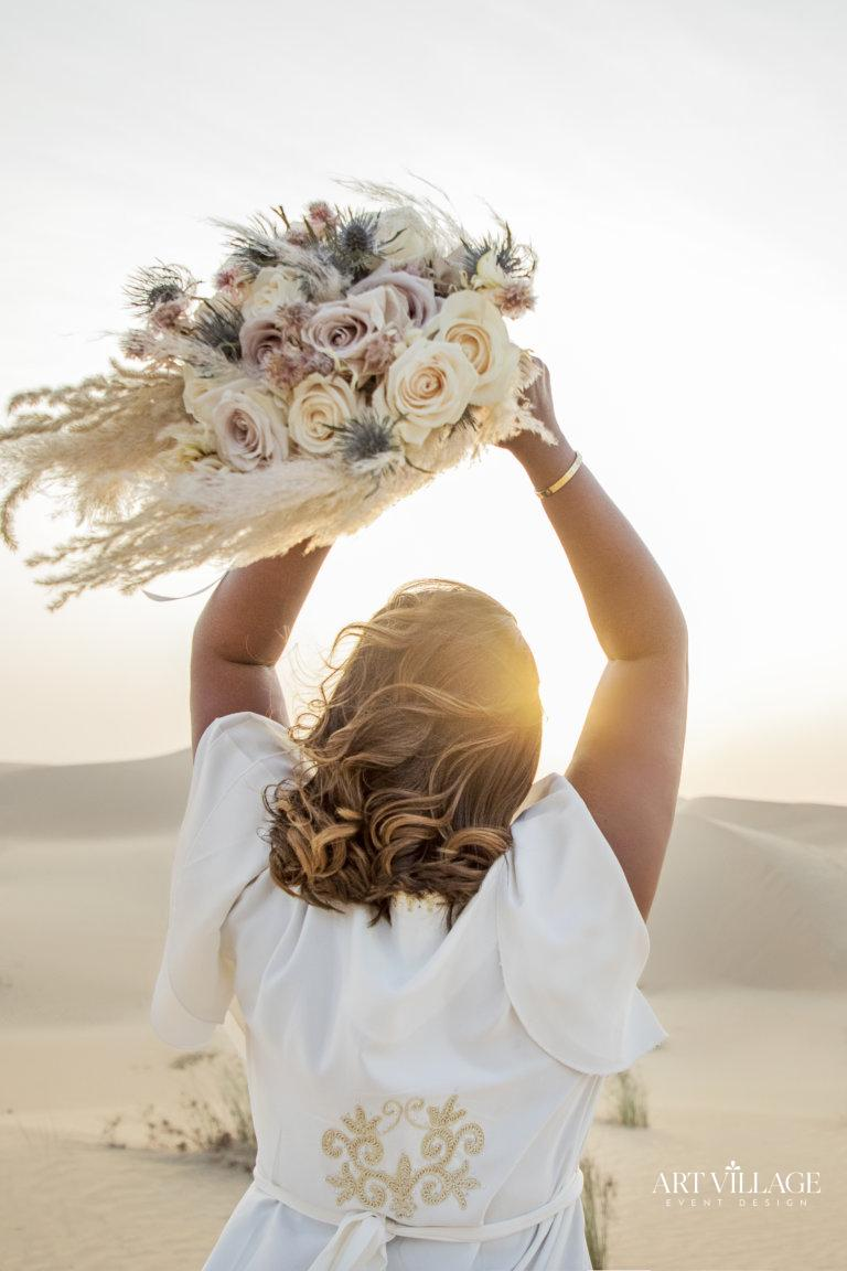 Beautiful bridal flower bouquet