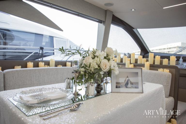 Most romantic yacht dinner