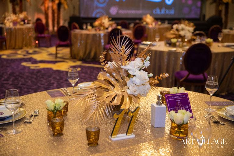 Elegant centerpieces for dining tables